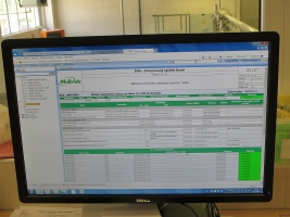 COMES evaluates test results of materials and controls its status